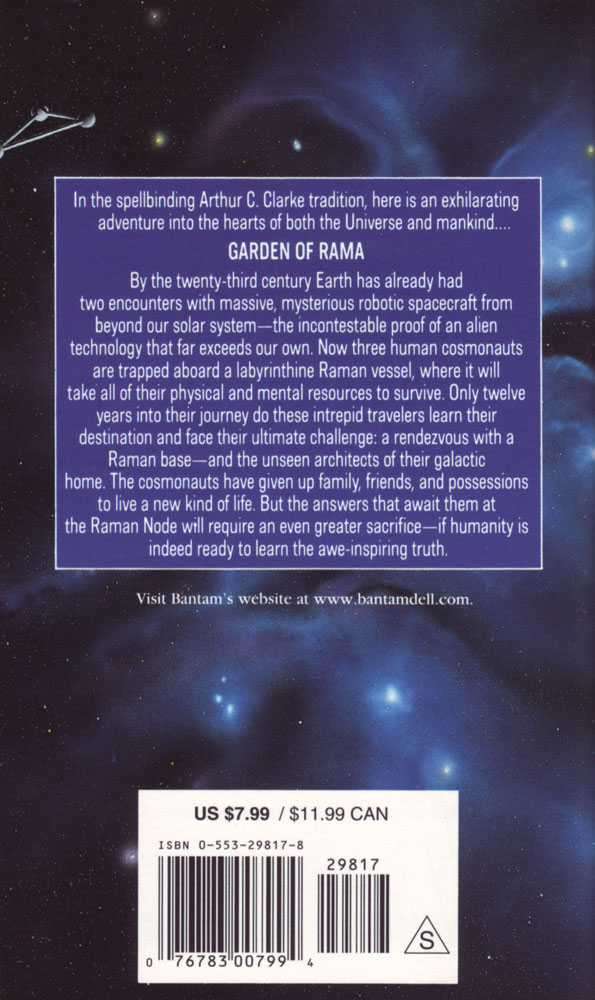 an analysis of the novel the garden of rama by arthur c clarke and gentry lee Abebookscom: the garden of rama (9780553298178) by arthur c clarke gentry lee and a great selection of similar new, used and collectible books available now at.