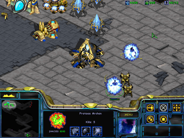 StarCraft screenshot.